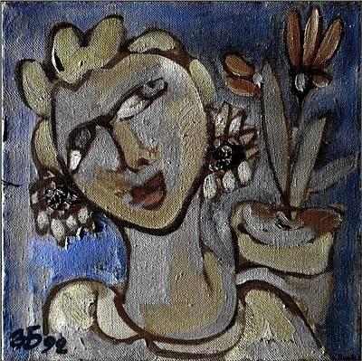 Portrait Painting - Girl by Zdravko Batembergski