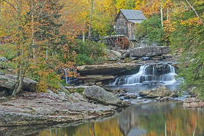 Photograph - Glade Creek Grist Mill At Babcock State Park In West Virginia by Willie Harper