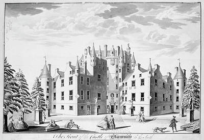 Glamis Castle Print by British Library