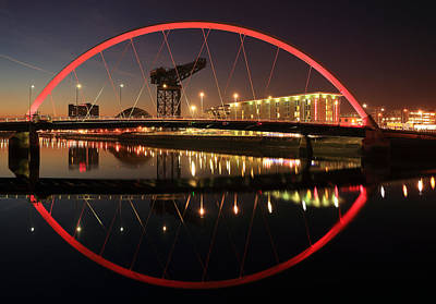 Photograph - Glasgow Clyde Arc  by Grant Glendinning
