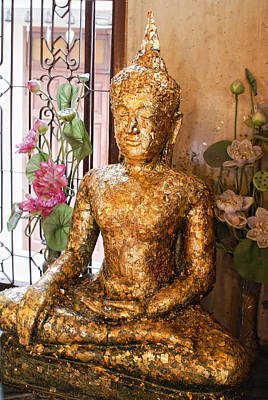 Digital Art - Golden Buddha  by Carol Ailles