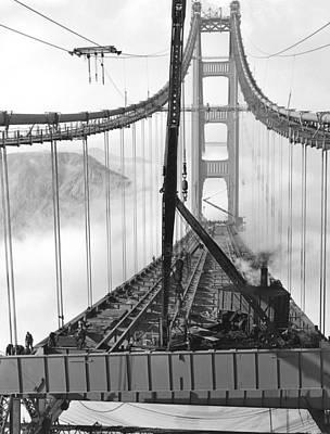 Golden Gate Bridge Work Art Print