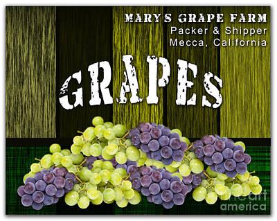Grape Mixed Media - Grape Farm by Marvin Blaine