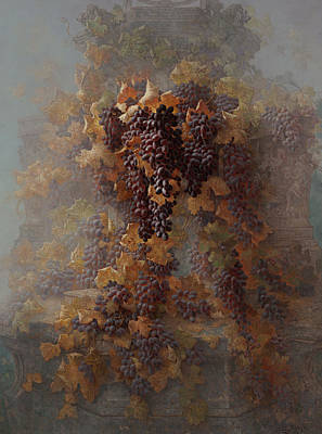 Grapes And Architecture Art Print by Edwin Deakin