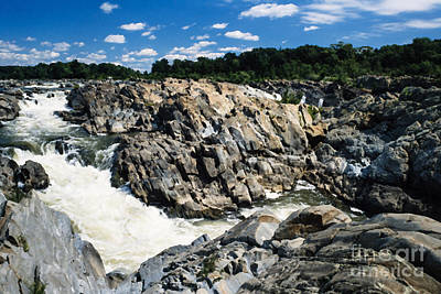 Christmas Cards - Great Falls of the Potomac River by Thomas R Fletcher