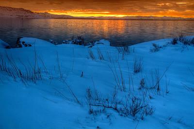 Photograph - Great Salt Lake Utah by Douglas Pulsipher