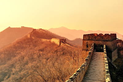 Photograph - Great Wall Morning by Songquan Deng