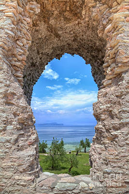 Grotto Catullus In Sirmione At The Lake Garda Original by Regina Koch