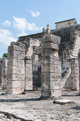 Science Collection - Group of the Thousand Columns at Chichen Itza by Carol Ailles