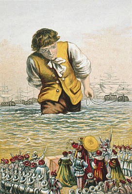 Lilliput Drawing - Gulliver's Travels by Granger