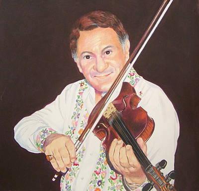 Romania Mixed Media - Gypsy Fiddler by Constance Drescher