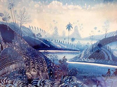 Haitian Painting - Haitian Landscape. by Haitian artist