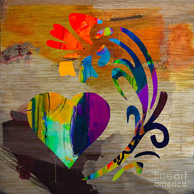 Flower Mixed Media - Heart And Flowers by Marvin Blaine