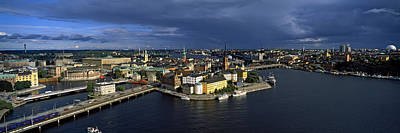 Gamla Stan Photograph - High Angle View Of A City by Panoramic Images