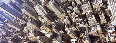 Crowd Scene Photograph - High Angle View Of Buildings In A City by Panoramic Images