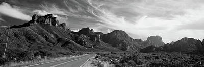Big Bend National Park Photograph - Highway Passing Through A Landscape by Panoramic Images