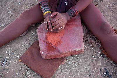 Negro Painting - Himba Tribe by Ton Koene