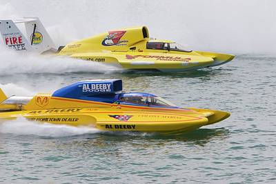 Hydroplane Racing Art Print