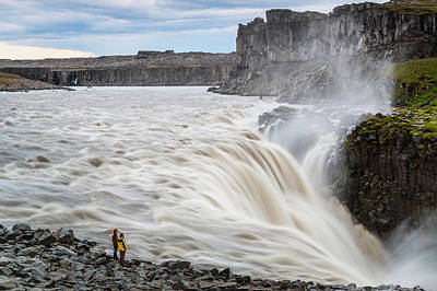 Dettifoss Photograph - Iceland-model Release by Mikel Bilbao