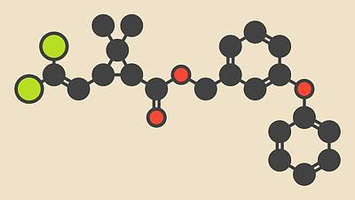 Head Louse Photograph - Insecticide Molecule by Molekuul