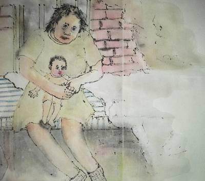 Inside Mental Illness Album Art Print by Debbi Saccomanno Chan