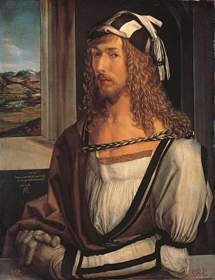 Self-portrait Photograph - Italy, Tuscany, Florence, Uffizi by Everett