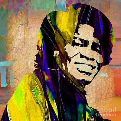 James Brown Collection Art Print by Marvin Blaine