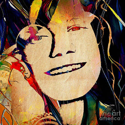 Sixties Mixed Media - Janis Joplin Collection by Marvin Blaine