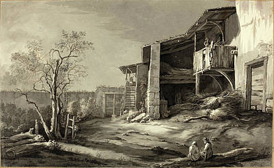 Farmyard Drawing - Jean-jacques De Boissieu French, 1736 - 1810 by Quint Lox