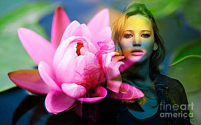 Flowers Mixed Media - Jennifer Lawrence by Marvin Blaine