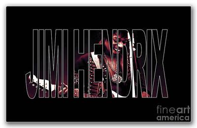 Jazz Stars Mixed Media - Jimi Hendrix by Marvin Blaine