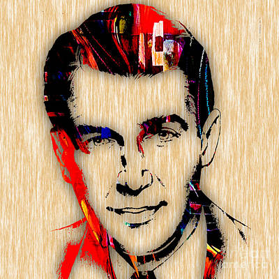 Jimmy Stewart Collection Print by Marvin Blaine