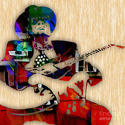 John Lee Hooker Collection Art Print by Marvin Blaine