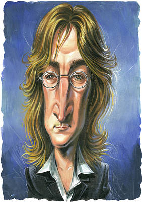 John Lennon Painting - John Lennon by Art