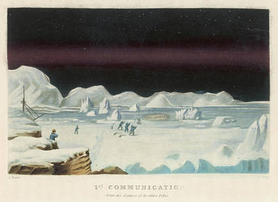 First Star Drawing - John Ross's Arctic Expedition by Mary Evans Picture Library