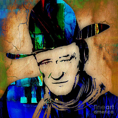 John Wayne Collection Art Print by Marvin Blaine