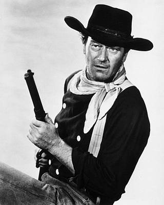 John Wayne Photograph - John Wayne by Silver Screen
