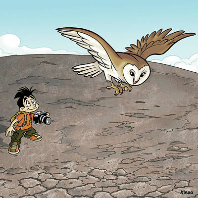 Observation Drawing - Kikeo The Photographer And Explorer by Kike Calvo