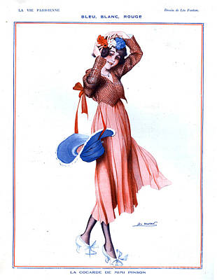 Nineteen-tens Drawing - La Vie Parisienne 1910s France Glamour by The Advertising Archives