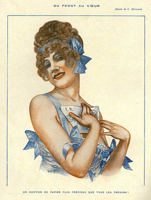 Nineteen-tens Drawing - La Vie Parisienne 1916 1910s France by The Advertising Archives