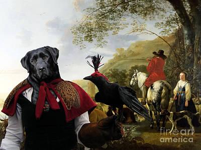 Painting - Labrador Retriever Art Canvas Print by Sandra Sij