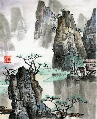 Landscape Art Print by Ping Yan