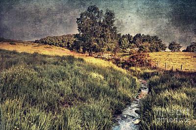 Running Digital Art - Landscape by Svetlana Sewell