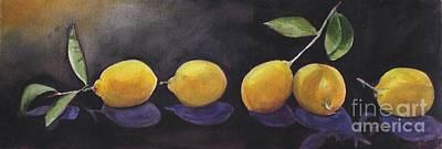 Painting - 5 Lemons by Kyong Burke