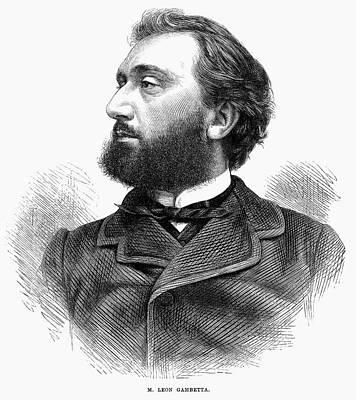 Lapel Painting - Leon Gambetta (1838-1882) by Granger