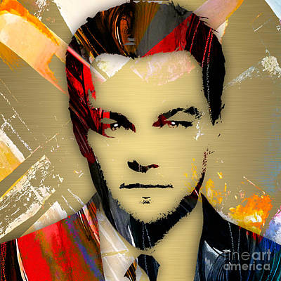 Actor Mixed Media - Leonardo Dicaprio Collection by Marvin Blaine