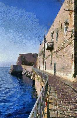 Painting - Light And Shadow In Hydra Island by George Atsametakis