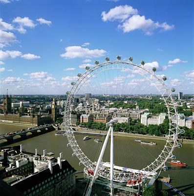 London Eye Wall Art - Photograph - London Eye by Mark Thomas/science Photo Library
