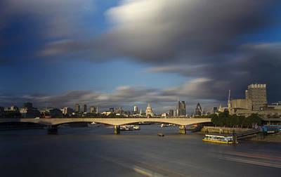 London  Skyline Waterloo  Bridge  Art Print by David French