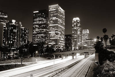 Photograph - Los Angeles At Night by Songquan Deng